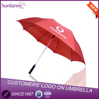 30inch*8k Straight Promotinal and Advertisement Big Straight Golf umbrella Print Logo Waterproof Fabric Umbrella Parts