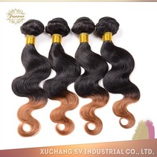 Cheap Brazilian Virgin Hair Extension Body Wave Bundles Unprocessed Human Hair Weave Mixed Length Ombre Color Hair