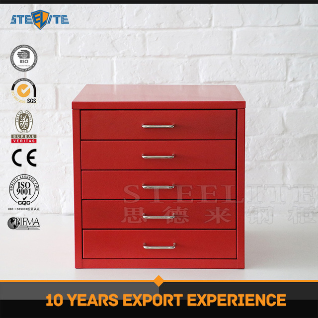 Korea style 5 drawer file cabinet small storage cabinet on table top