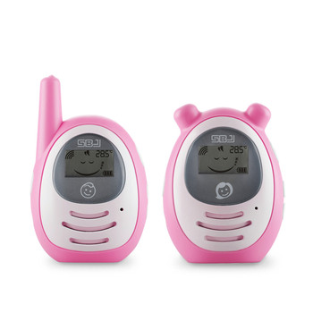 2.4g wireless mini lcd monitor digital audio baby monitor  with temperature display