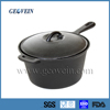 Round shaped vegetable oil coating cast iron cooking pot