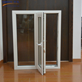 Interior used french style pvc profile glass casement window