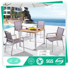 Stainless steel garden teak dining table outdoor furniture