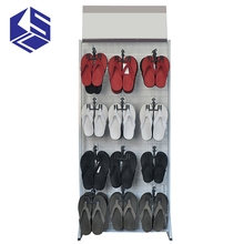 Hot selling wood slipper shoe display racks stand for store sale