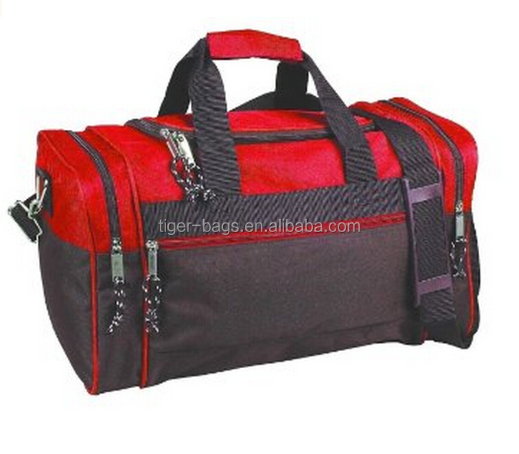 Canvas men's travel duffel shoulder tote trolley suitcase luggage bag