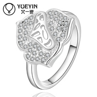Popular Mixed Styles Punctual Delivery Heart Shaped Latest Silver Ring Designs