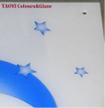 inorganic tempered glass white enamel paint