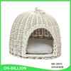 New design handcrafted pet basket wicker pet carrier