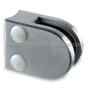 stainless steel round glass clamps for stairs