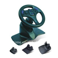 For pc-usb wired racing wheel with vibration/USB Vibration Racing Wheel with wheel-mounted gear shifter FT3691