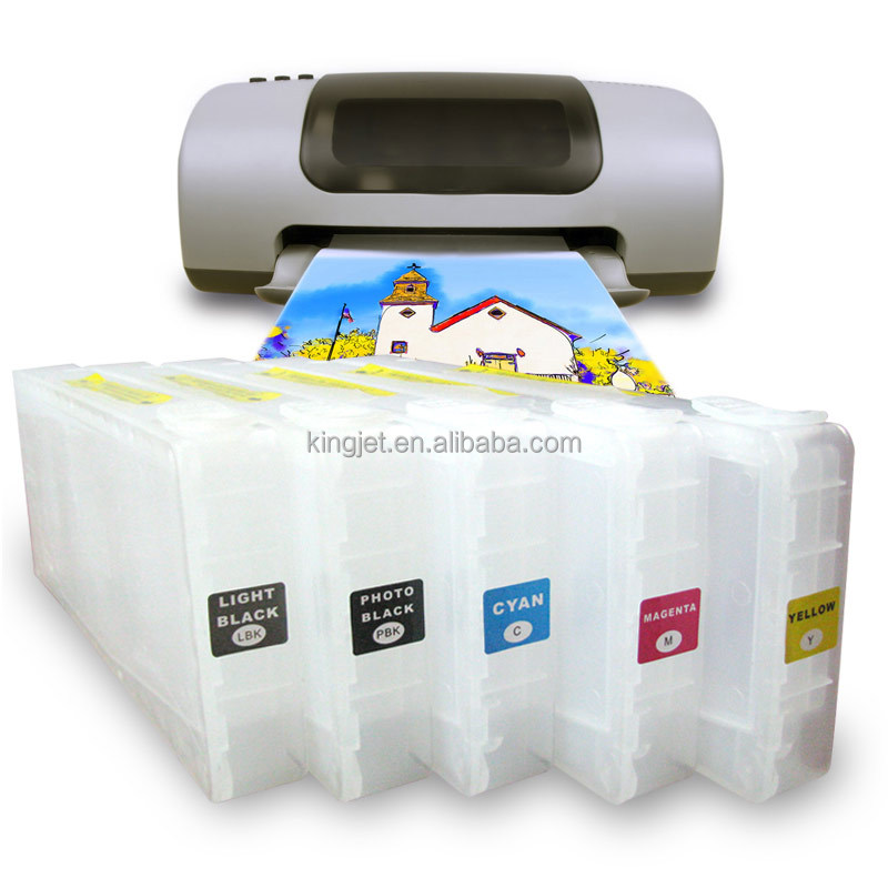 gold printer supplies refill ink cartridge for Epson 7700 9700 7710 9710 made in china
