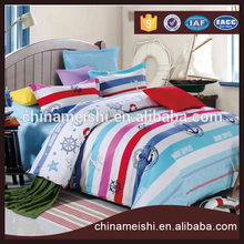 100% Cotton Colorful stripes bedding sets luxury Full/Queen/King Size Duvet Cover Set