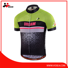 Dream Sport coolmax green cycling jersey set with short sleeves
