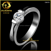 cubic zirconia 925 sterling silver HS code 7113119090 one diamond women ring
