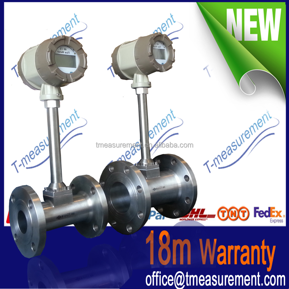 Low price Wafer type Vortex compress air flow meter/biogas flow meters for commercial use