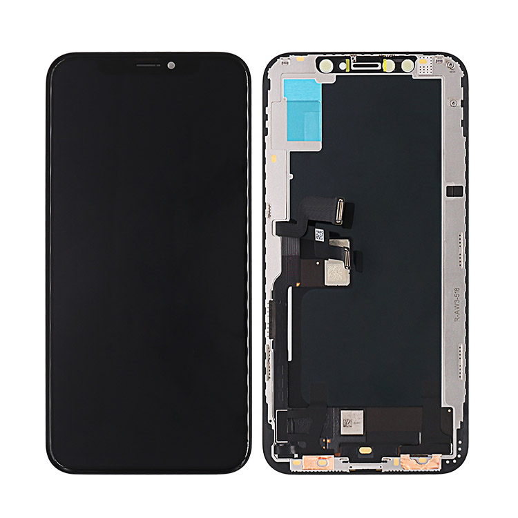 Mobile Phone replacement for iPhone XS max OLED LCD glass touch screen +frame+tools 6.5'' black