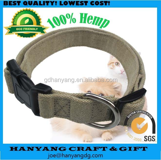 Hot Sales Eco-Friendly Dog Hemp Collar