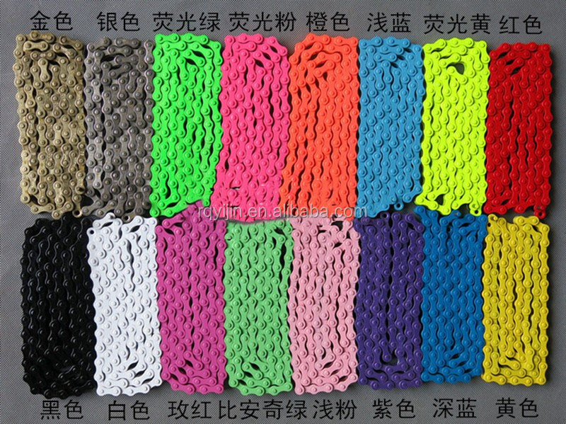 motorcycle chain 40Mn color red yellow green blue purple black