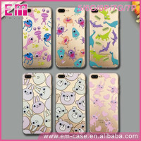 Fashion Cystal Phone Case for iPhone/New TPU+PC Phone Shell for iPhone 7/ for iPhone 3D Eyes Animal Plastic Case Cover