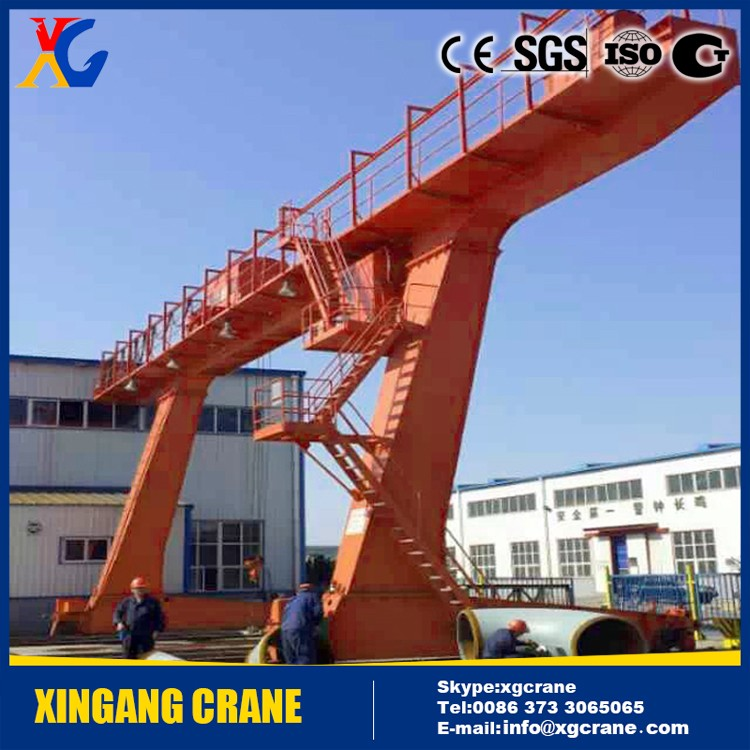 Crane hometown xinxiang China manufacturer single /double girder gantry crane 30 ton