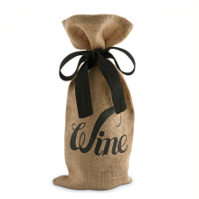 Customized drawstring wine bag,Single jute wine bottle bag,jute wine tote bag wholesale