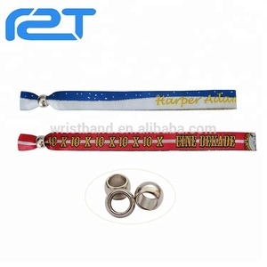 New products on china market custom terry cloth woven wristband