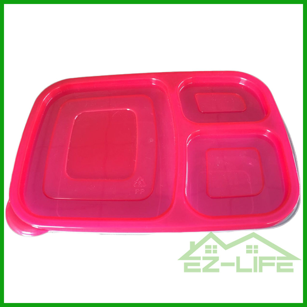 Best plastic disposable compartment cleakproof heap Plastic Lunch Box with lock
