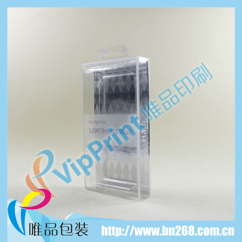 Plastic pvc gift boxes for mobile phone cover made in china