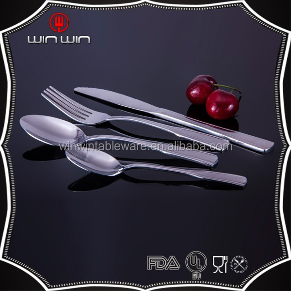 Chinese style stainless steel gift flatware with bamboo handle, cutlery set ,knife, soup and tea spoon and fork