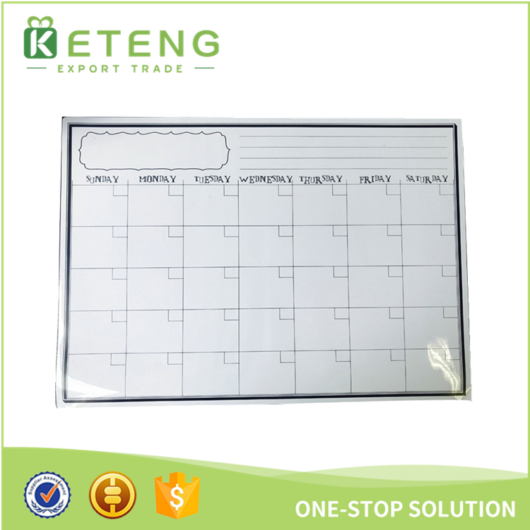 High quality magnetic refrigerator calendar