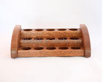 Custom Logo 5ml wooden essential oil display racks 3 tier