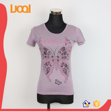 Wholesale China factory cheap price women dri fit screen printing t-shirt