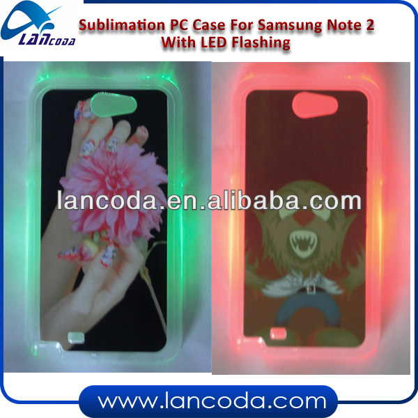 LED Sublimation Phone Cover for Samsung Note2 N7100
