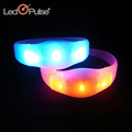 Colorful Color Changing Silicon Bracelet Motion Activated Remote Controlled Led Bracelet
