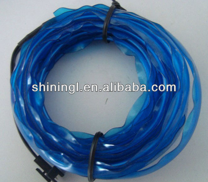lighting blue el wire / cable with edge for sewing