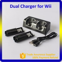 Hot Selling Video Game Accessories 2800mAh Rechargeable Battery Pack + Dual Charging Station for Wii Remote