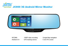 "Jimi JC900 4.3"" Built in Bluetooth Dual Video Inputs Auto Adjust Brightness Car Rearview panasonic car audio"