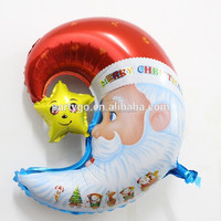 Christmas balloons!! Moon shape Santa Claus mylar balloons (55*59cm) for Christmas party supplies