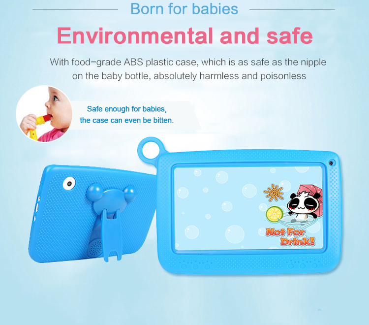 OEM cheap 7 inch Quad Core Kids Tablet PC 7'' A33 Cheap Android Children Tablet for kids Q758