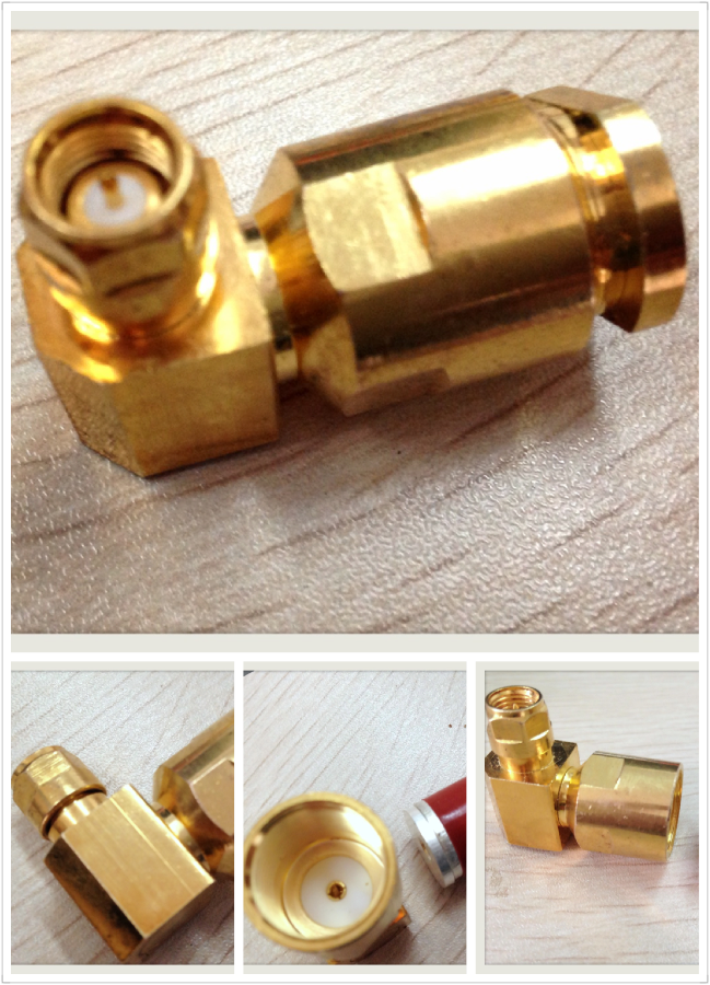 rf connector SMA(ADL) Male 90 degree LMR300 coax electric cable