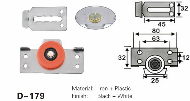 lowest price stainless steel window roller cabinet aluminium plastic roller for sliding door closet