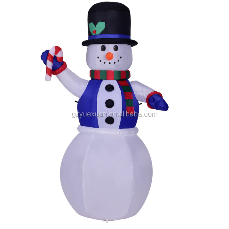 Large Outdoor Inflatable Christmas Snowman Decorations for Yard