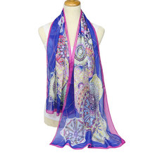 Printed circle Korean shawls scarf fashion Voile Scarf