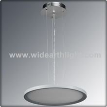 UL Listed Brushed Nickel LED Decorative Hanging Lights With Round Plate Glass Shade C20074