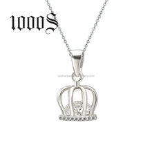 Sterling Silver Cage Pendant Crown Wholesale Latest New Designs Bulk Sale Jewelry
