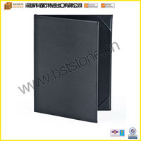 Double Fold Leather Menu Cover for Restaurants with Photo Album-style Corners