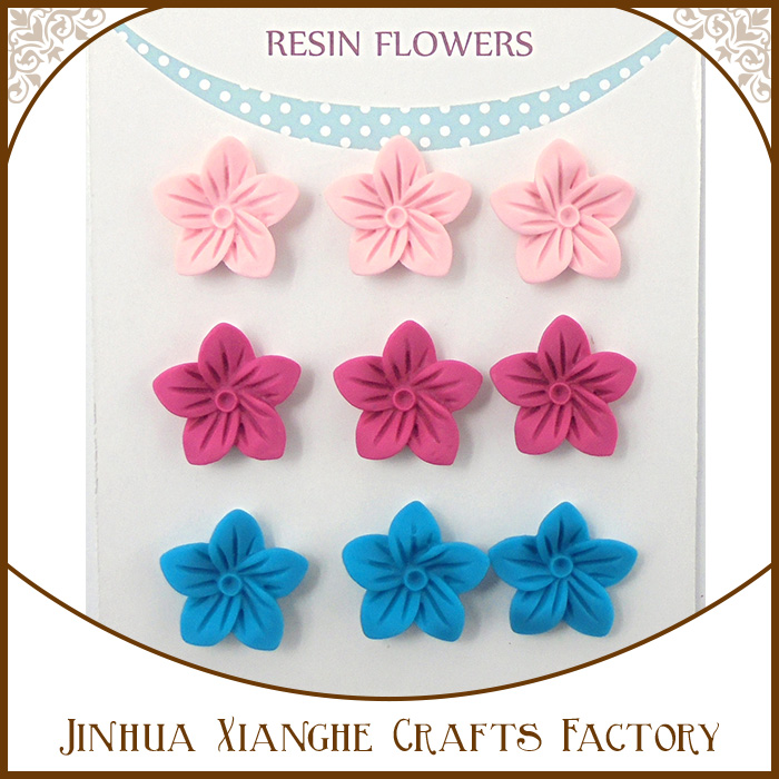 2017 new arrival DIY dried flower resin custom scrapbook resin flower cabochons for craft decoration