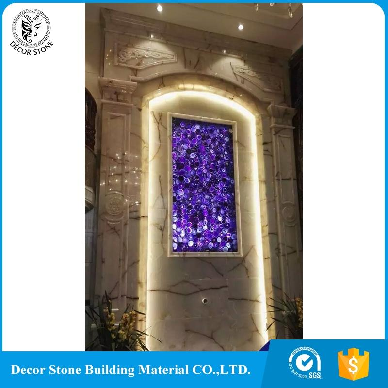Modern design stone amethyst slab backlit with high quality
