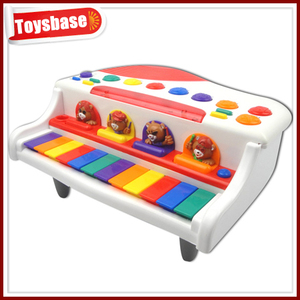 Battery operated toy piano keyboard for girl