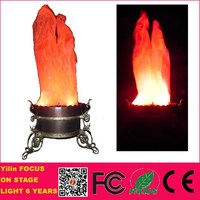 Foshan Yilin 60W energy saving flower pot shape stage artificial fire effect led outdoor silk flame lights